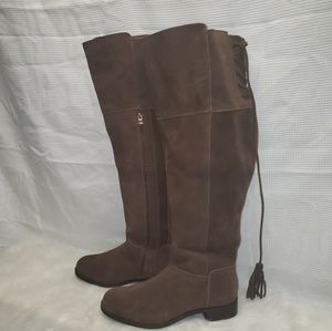 Torrid Genuine Suede Over the Knee Boots 10.5 W WC